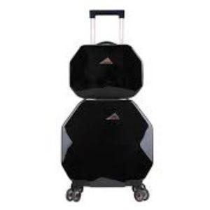 Kensie Gemstone Octagonal Black 2pc Luggage set